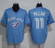 Wholesale Cheap Blue Jays #11 Kevin Pillar Light Blue Cooperstown Throwback Stitched MLB Jersey