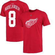 Wholesale Cheap Detroit Red Wings #8 Justin Abdelkader Reebok Name and Number Player T-Shirt Red