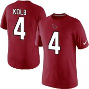 Wholesale Cheap Nike Arizona Cardinals #4 Kevin Kolb Pride Name & Number NFL T-Shirt Red