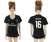 Wholesale Cheap Women's Real Madrid #16 Kovacic Away Soccer Club Jersey