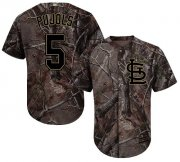 Wholesale Cheap Cardinals #5 Albert Pujols Camo Realtree Collection Cool Base Stitched MLB Jersey