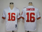 Wholesale Cheap Mitchell And Ness Chiefs #16 Len Dawson White Stitched Throwback NFL Jersey