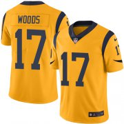 Wholesale Cheap Nike Rams #17 Robert Woods Gold Youth Stitched NFL Limited Rush Jersey