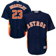 Wholesale Cheap Astros #23 Michael Brantley Navy Blue New Cool Base Stitched MLB Jersey