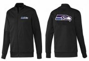 Wholesale Cheap NFL Seattle Seahawks Team Logo Jacket Black_1
