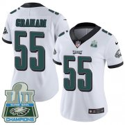 Wholesale Cheap Nike Eagles #55 Brandon Graham White Super Bowl LII Champions Women's Stitched NFL Vapor Untouchable Limited Jersey