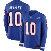 Wholesale Cheap Nike Bills #10 Cole Beasley Royal Blue Team Color Men's Stitched NFL Limited Therma Long Sleeve Jersey