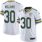 Wholesale Cheap Nike Packers #30 Jamaal Williams White Men's 100th Season Stitched NFL Vapor Untouchable Limited Jersey