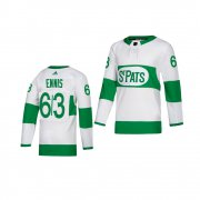 Wholesale Cheap Adidas Maple Leafs #63 Tyler Ennis White 2019 St. Patrick's Day Authentic Player Stitched Youth NHL Jersey