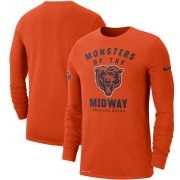 Wholesale Cheap Chicago Bears Nike Sideline Local Performance Long Sleeve T-Shirt Orange