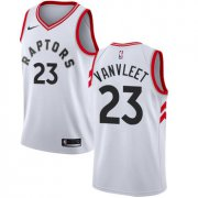 Wholesale Cheap Raptors #23 Fred VanVleet White Women's Basketball Swingman Association Edition Jersey