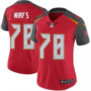 Wholesale Cheap Nike Buccaneers #78 Tristan Wirfs Red Team Color Women's Stitched NFL Vapor Untouchable Limited Jersey