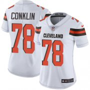 Wholesale Cheap Nike Browns #78 Jack Conklin White Women's Stitched NFL Vapor Untouchable Limited Jersey