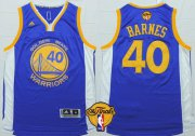 Wholesale Cheap Men's Golden State Warriors #40 Harrison Barnes Blue 2016 The NBA Finals Patch Jersey