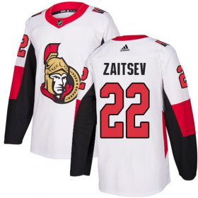 Wholesale Cheap Adidas Senators #22 Nikita Zaitsev White Road Authentic Stitched Youth NHL Jersey