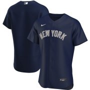 Wholesale Cheap New York Yankees Men's Nike Navy Alternate 2020 Authentic Team Name MLB Jersey