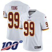 Wholesale Cheap Nike Redskins #99 Chase Young White Youth Stitched NFL 100th Season Vapor Untouchable Limited Jersey