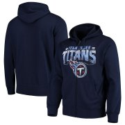 Wholesale Cheap Tennessee Titans G-III Sports by Carl Banks Perfect Season Full-Zip Hoodie Navy