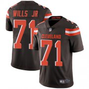 Wholesale Cheap Nike Browns #71 Jedrick Wills JR Brown Team Color Men's Stitched NFL Vapor Untouchable Limited Jersey