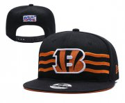 Wholesale Cheap Bengals Team Logo Black 2019 Draft Adjustable Hat YD