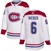 Wholesale Cheap Adidas Canadiens #6 Shea Weber White Authentic Stitched Youth NHL Jersey