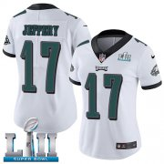 Wholesale Cheap Nike Eagles #17 Alshon Jeffery White Super Bowl LII Women's Stitched NFL Vapor Untouchable Limited Jersey