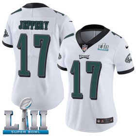 Wholesale Cheap Nike Eagles #17 Alshon Jeffery White Super Bowl LII Women\'s Stitched NFL Vapor Untouchable Limited Jersey