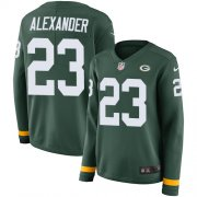 Wholesale Cheap Nike Packers #23 Jaire Alexander Green Team Color Women's Stitched NFL Limited Therma Long Sleeve Jersey