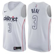 Wholesale Cheap Nike Washington Wizards #3 Bradley Beal White NBA Swingman City Edition Jersey