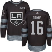 Wholesale Cheap Adidas Kings #16 Marcel Dionne Black 1917-2017 100th Anniversary Stitched NHL Jersey