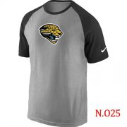 Wholesale Cheap Nike Jacksonville Jaguars Ash Tri Big Play Raglan NFL T-Shirt Grey/Black