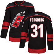 Wholesale Cheap Adidas Hurricanes #31 Anton Forsberg Black Alternate Authentic Stitched Youth NHL Jersey