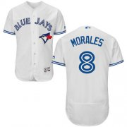 Wholesale Cheap Blue Jays #8 Kendrys Morales White Flexbase Authentic Collection Stitched MLB Jersey