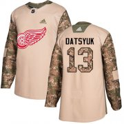 Wholesale Cheap Adidas Red Wings #13 Pavel Datsyuk Camo Authentic 2017 Veterans Day Stitched NHL Jersey