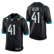 Wholesale Cheap Nike Jaguars #41 Josh Allen Black 25th Anniversary Vapor Limited Stitched NFL 100th Season Jersey