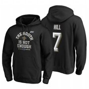 Wholesale Cheap New Orleans Saints #7 Taysom Hill 2019 NFC South Division Champions Black Cover Two Hoodie