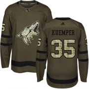 Wholesale Cheap Adidas Coyotes #35 Darcy Kuemper Green Salute to Service Stitched NHL Jersey