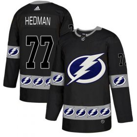 Wholesale Cheap Adidas Lightning #77 Victor Hedman Black Authentic Team Logo Fashion Stitched NHL Jersey