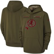 Wholesale Cheap Men's Washington Redskins Nike Olive Salute to Service Sideline Therma Performance Pullover Hoodie