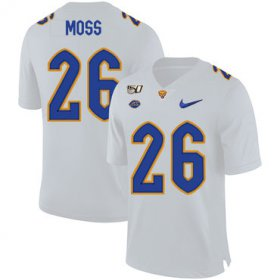 Wholesale Cheap Pittsburgh Panthers 26 Chawntez Moss White 150th Anniversary Patch Nike College Football Jersey
