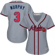 Wholesale Cheap Braves #3 Dale Murphy Grey Road Women's Stitched MLB Jersey