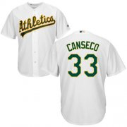 Wholesale Cheap Athletics #33 Jose Canseco White Cool Base Stitched Youth MLB Jersey