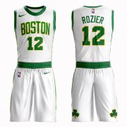 Wholesale Cheap Boston Celtics #12 Terry Rozier White Nike NBA Men's City Authentic Edition Suit Jersey
