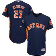 Wholesale Cheap Astros #27 Jose Altuve Navy Blue Flexbase Authentic Collection 2019 World Series Bound Stitched MLB Jersey