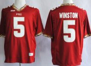 Wholesale Cheap Florida State Seminoles #5 Jameis Winston 2013 Red Jersey