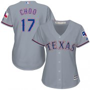 Wholesale Cheap Rangers #17 Shin-Soo Choo Grey Road Women's Stitched MLB Jersey