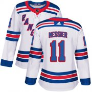 Wholesale Cheap Adidas Rangers #11 Mark Messier White Road Authentic Women's Stitched NHL Jersey