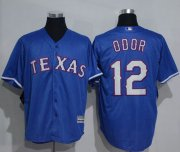 Wholesale Cheap Rangers #12 Rougned Odor Blue New Cool Base Stitched MLB Jersey