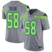 Wholesale Cheap Nike Seahawks #58 Darrell Taylor Gray Men's Stitched NFL Limited Inverted Legend Jersey