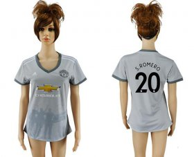 Wholesale Cheap Women\'s Manchester United #20 S.Romero Sec Away Soccer Club Jersey